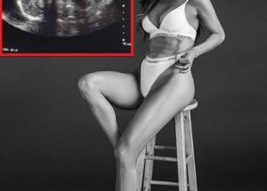 Сара Стейдж – бременна в 7-я месец, с яка преса на корема (СНИМКИ)